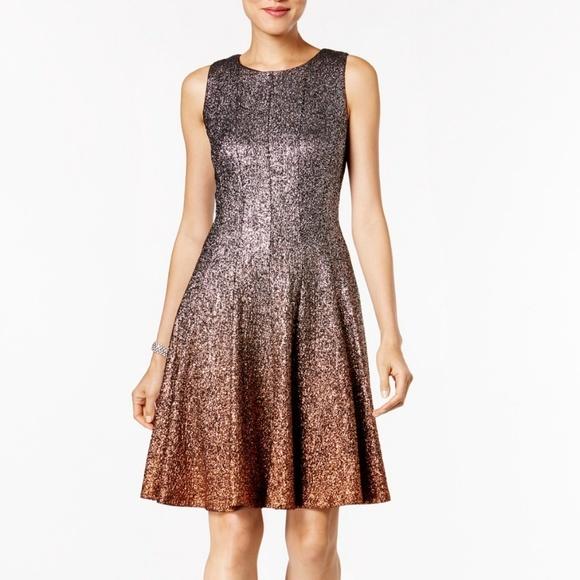 MSK Glitter Ombré Metallic Fit   Flare dress. M 5bdc996a9519962aae3dc0c7 e1e44e466ce2